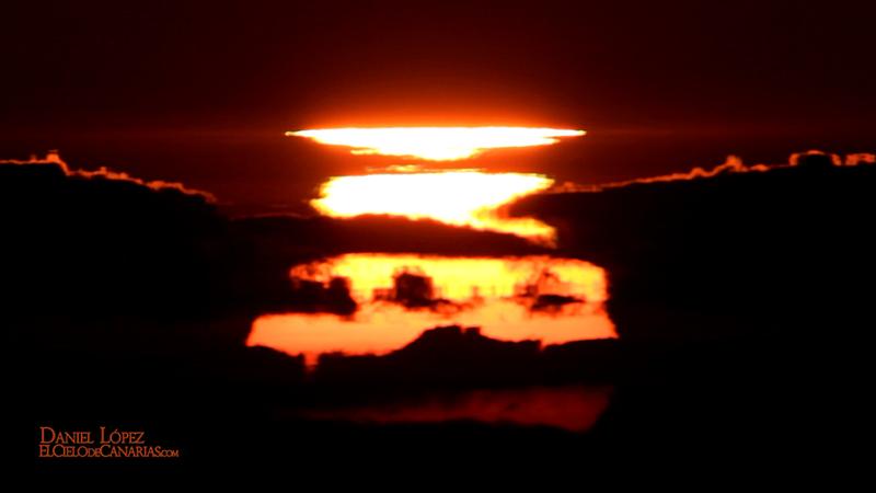 Sol deformado puesta