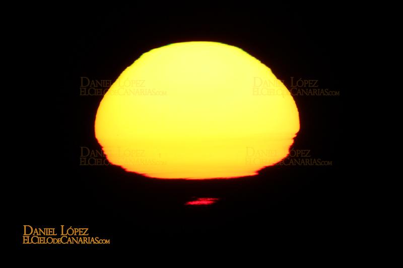 Rayos rojo Sol