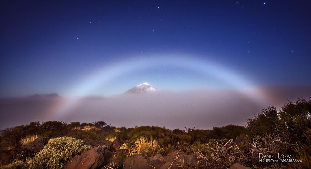 Arcoiris Lunar y Teide DLopez